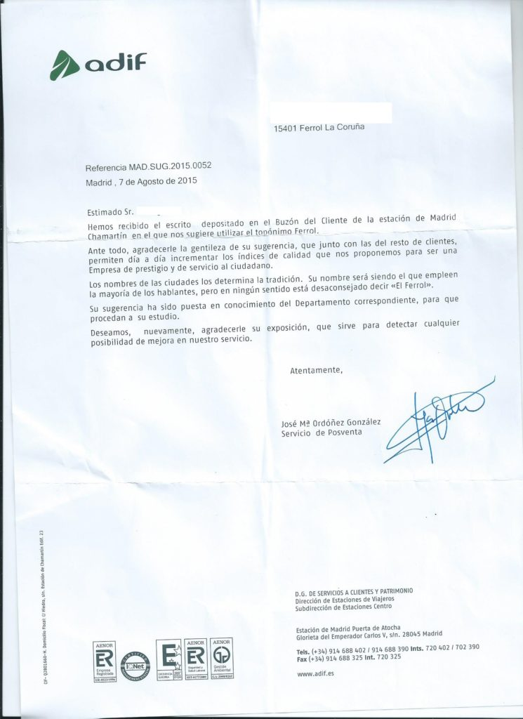 ADIF Ferrol