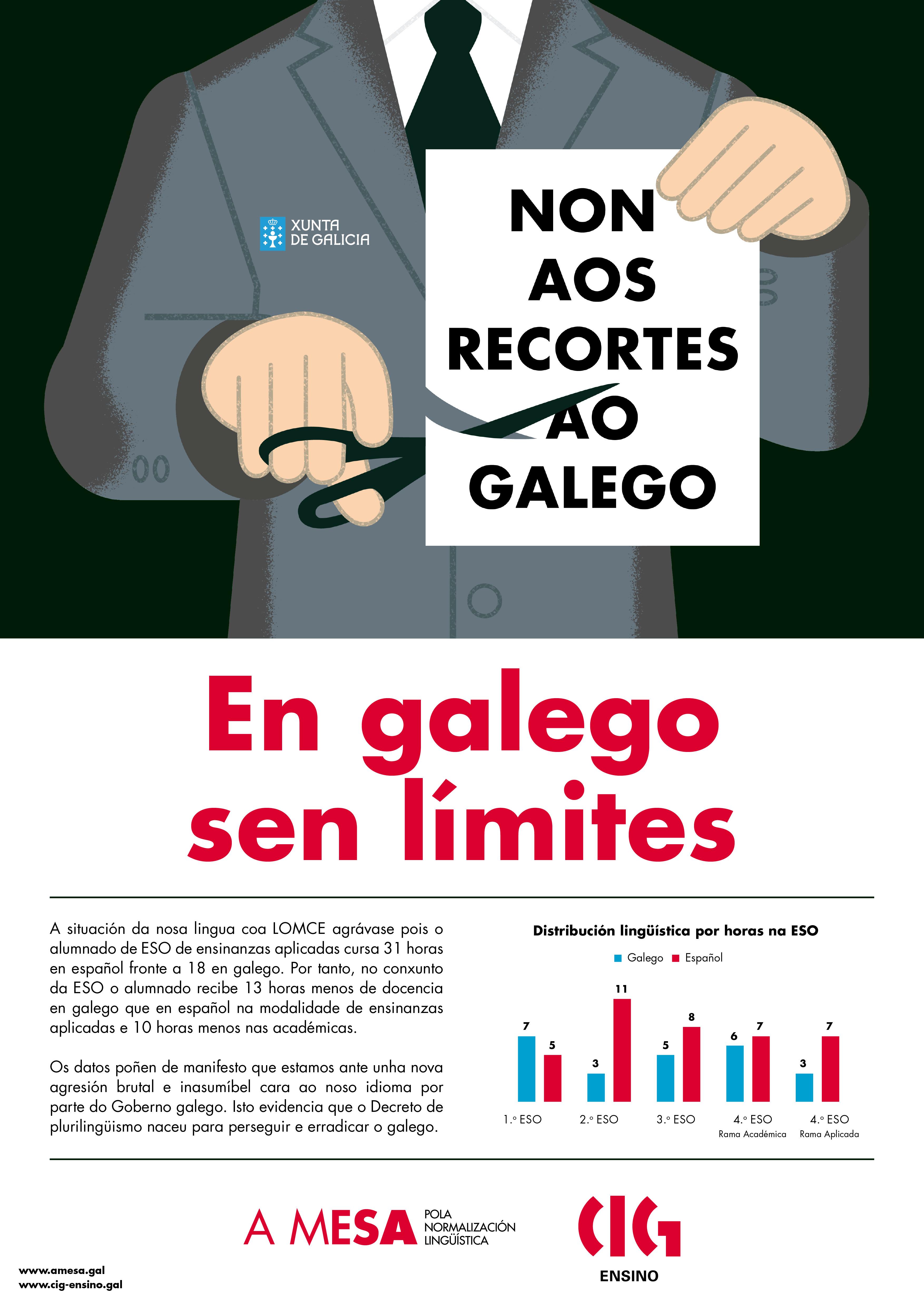 Cartaz Lomce: En galego sen límites