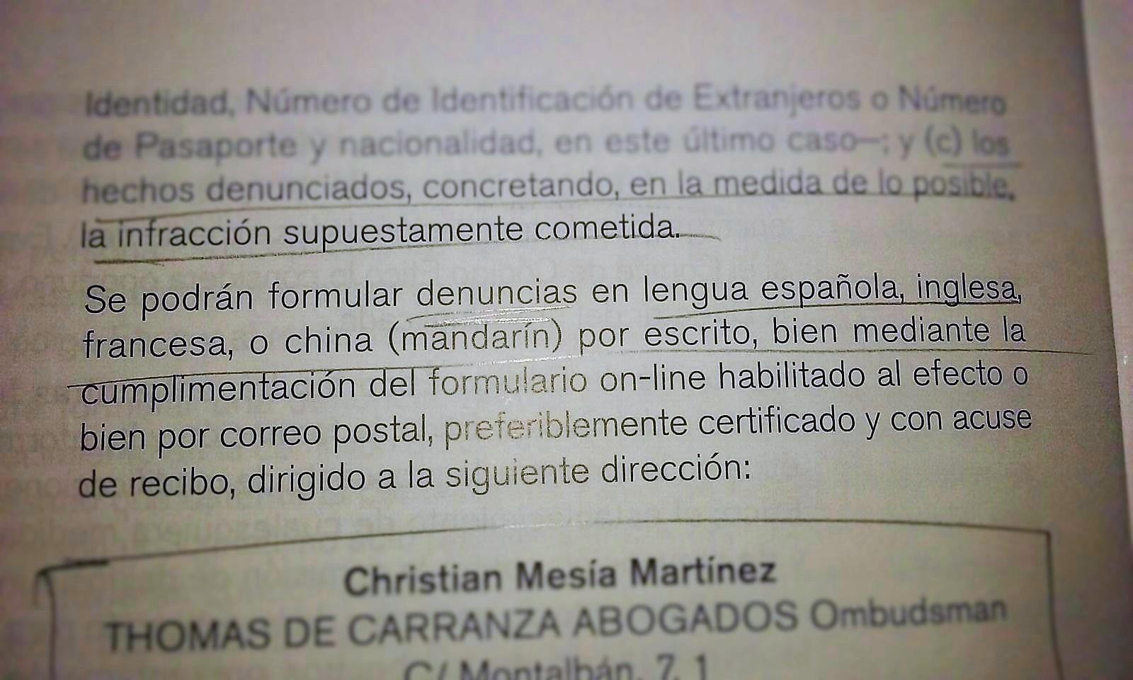 Vulneración sistemática da legalidade lingüísitica por parte da empresa Ferrotlántica.