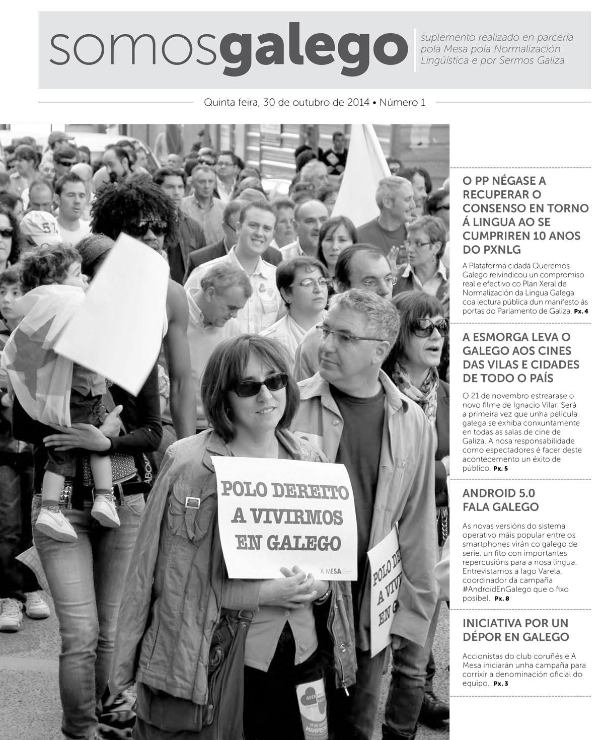 Somos Galego: Quinta feira, 30 de outubro de 2014 • Número 1