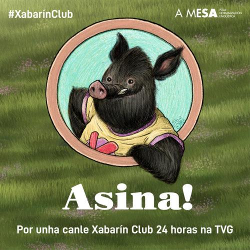 """Báner cadrado """"Asina! Por unha canle Xabarín Club 24 horas na TVG"""""""
